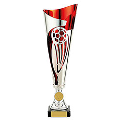 Red Champions Football Cup 325mm